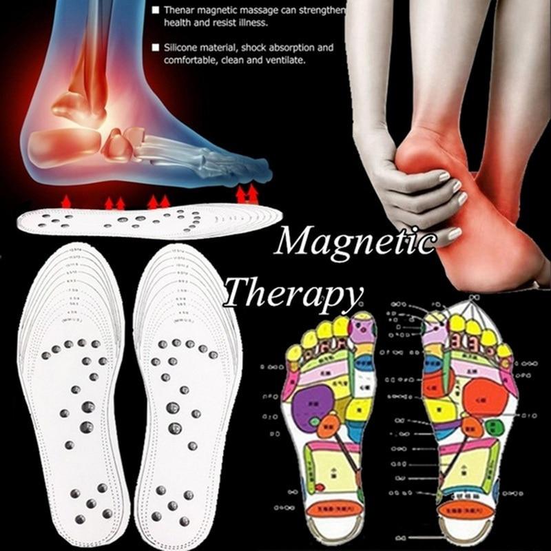 SHUJIN Unisex Feet Massage Insoles Magnetic Weight Loss Acupressure Slimming Insoles Women Men Foot Care Shoe Gel Inserts 2019