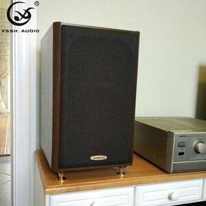 Image 4 - Xssh 8pcs 솔리드 스틸 스피커 스파이크 절연 피트 황동 콘 cd 앰프 스탠드 hifi 오디오