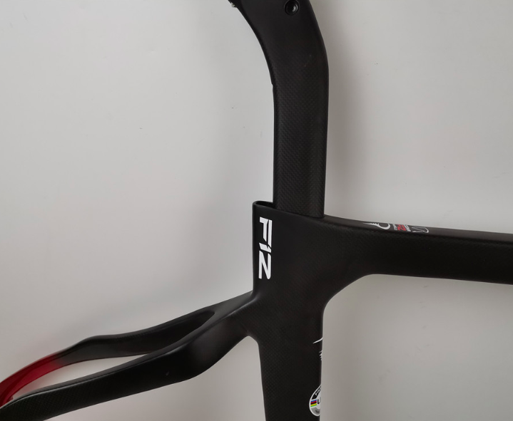 New t1100 1k carbon frame made in taiwan bsa 54cm black red carbon road <font><b>bike</b></font> frameset <font><b>OEM</b></font> bicycle frame free shipping image