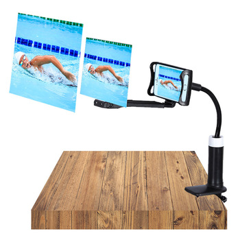 Mobile Phone HD Projection Bracket Screen Magnifier 360 Degree Adjustable for Home Office 3D HD Phone