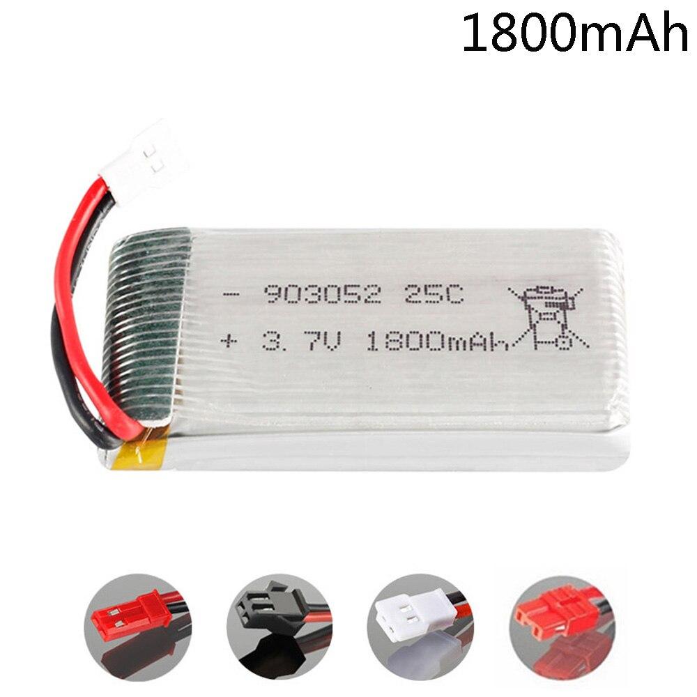 Battery For KY601S SYMA X5 X5S X5C X5SC X5SH X5SW X5HW X5UW M18 H5P HQ898 H11D H11C 3.7V 1800mah Lipo Battery XH2.54/SM/JST/XH4.