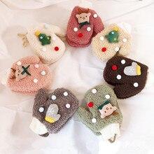 17*12 см EnkeliBB От 3 до 10 лет, детские зимние перчатки, Новогодние рождественские Санты, милые Утепленные перчатки, аксессуары для мальчиков и девочек