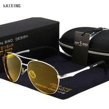kAIXING Brand Aluminum Sunglasses Men Polarized Yellow Lens Night Vision Goggles Classic Retro UV400 Driving Car Glasses Women