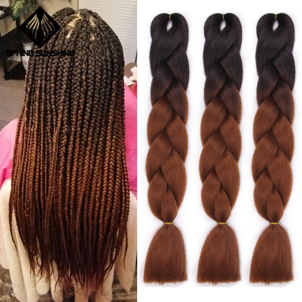 24Inch Jumbo Braids Crochet Braiding Hair Extensions Long Ombre Synthetic Braid Hair Extensions African Viscera