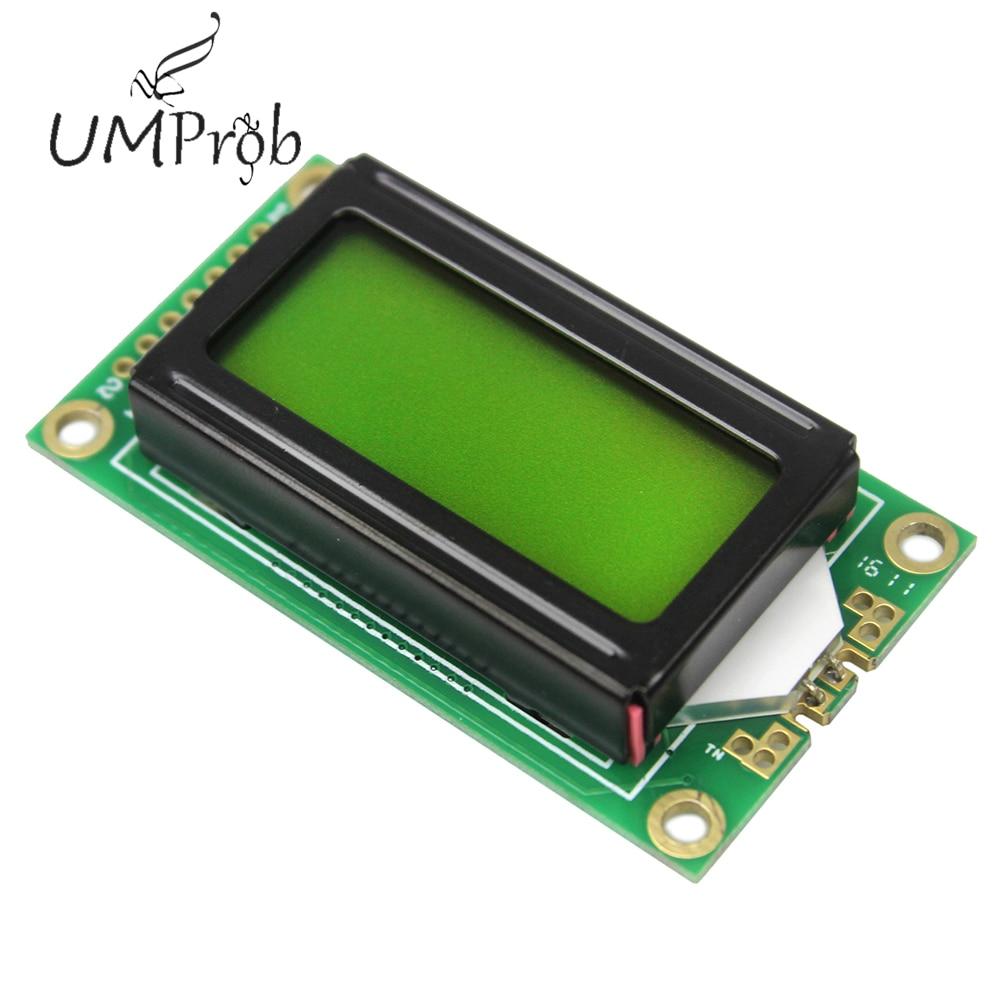 0802 ЖК-модуль 8x2 символьный дисплей 3,3 V/5 V светодиодный ЖК-подсветка для arduino Diy Kit