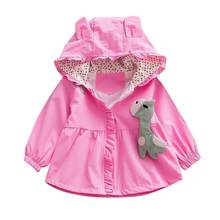 Toddler Baby Kids Girls Ear Cartoon Hooded Windproof Coat Outwear Children Girls Casual Long Sleeve Autumn Winter Clothes(China)