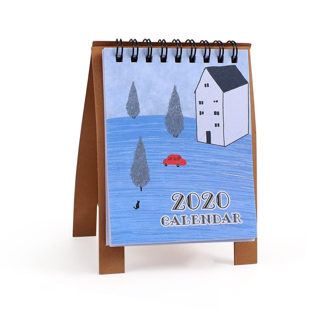 JIANWU милые Мультяшные животные настольный мини-календарь, школьный офис, кавайный планировщик, Настольный календарь - Цвет: fangzi