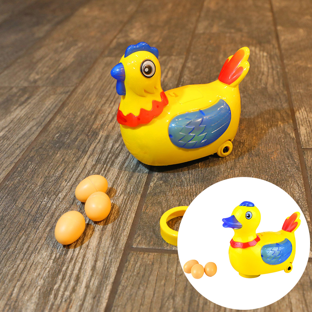 Laying Eggs Chicken Duck Battery Electric Model Toys Kids Educational Hen Electronic Toy with Lights Music For Children Gifts image