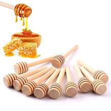 24/60 пакетов деревянных шрур для меда зеркальная ложка палочка