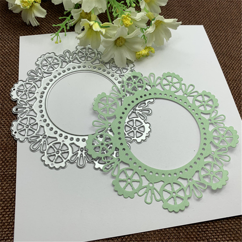Vintage Lace Metal Cutting Dies Craft Stamps Die Cut Embossing Card Make Stencil