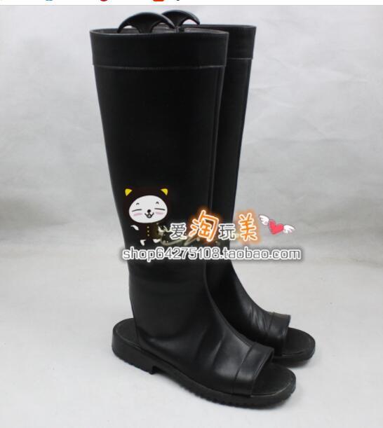 Naruto Hyuga Hinata Cosplay Boots Boot Shoes Shoe Ninjia boot hand made