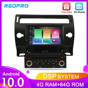 Image 1 - Android10.0 Touch Screen Car GPS DVD Stereo For Citroen C4 C Triomphe C Quatre 2004 2009 Video Radio WIFI FM Multimedia Player