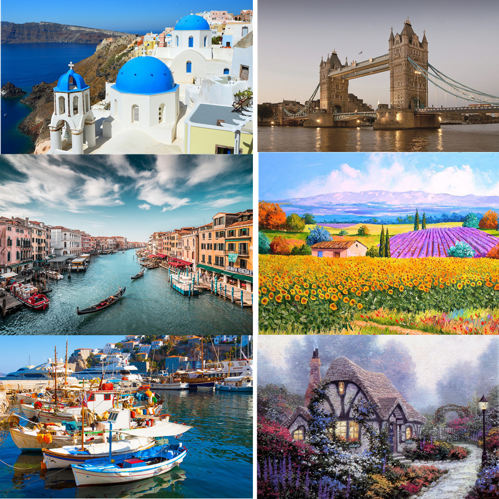 Puzzle 500 Pieces Landscape Pattern Pictures Adult Puzzles Kids Jigsaw Educational Toys For Children Puzzle Gifts Dropshipping