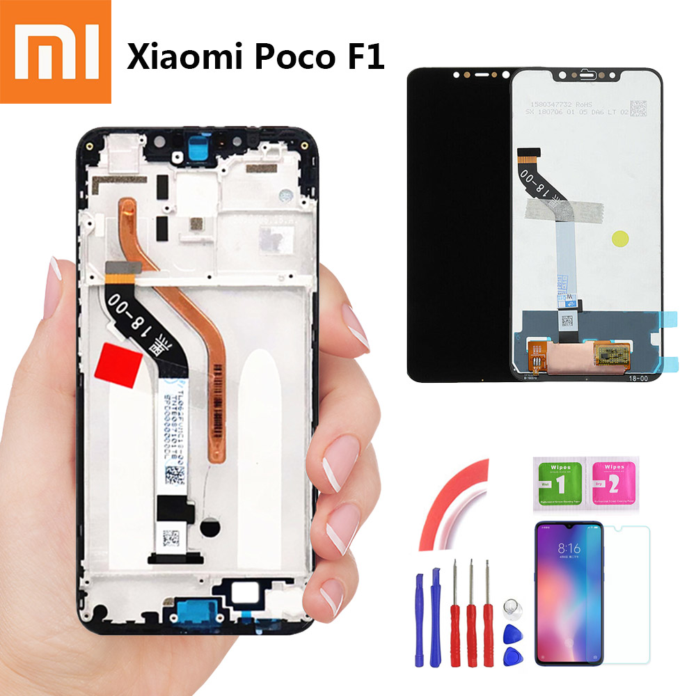 E-family 6.18'' For Xiaomi Pocophone F1 LCD Display Touch Screen Digitizer Assembly For Xiaomi Pocophone F1 LCD Screen Replace