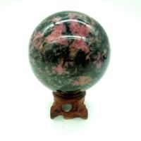 Natural peach jasper ball gemstone crystal sphere healing stone for crafts