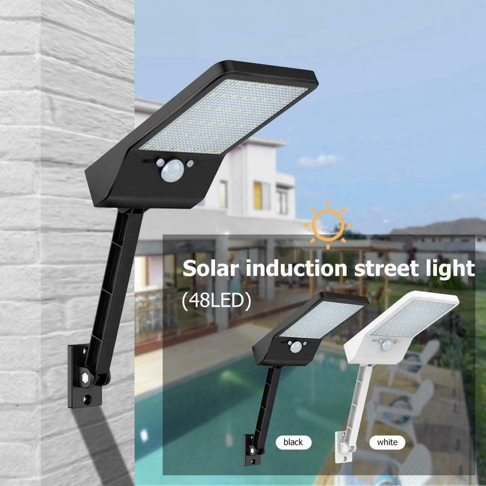 Outdoor 48 LEDs Solar Light PIR Motion Sensor Waterproof Wall Lamp with Remote Control JDH99