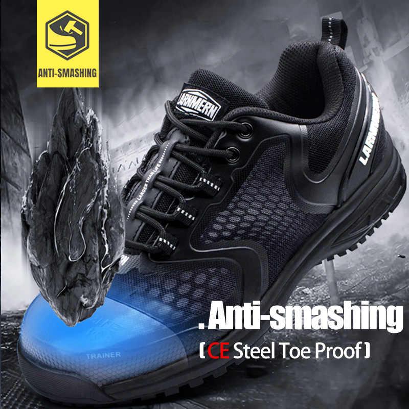 MODYF/Мужская Черная легкая Рабочая защитная обувь со стальным носком, дышащие строительные защитные сапоги с защитой от проколов