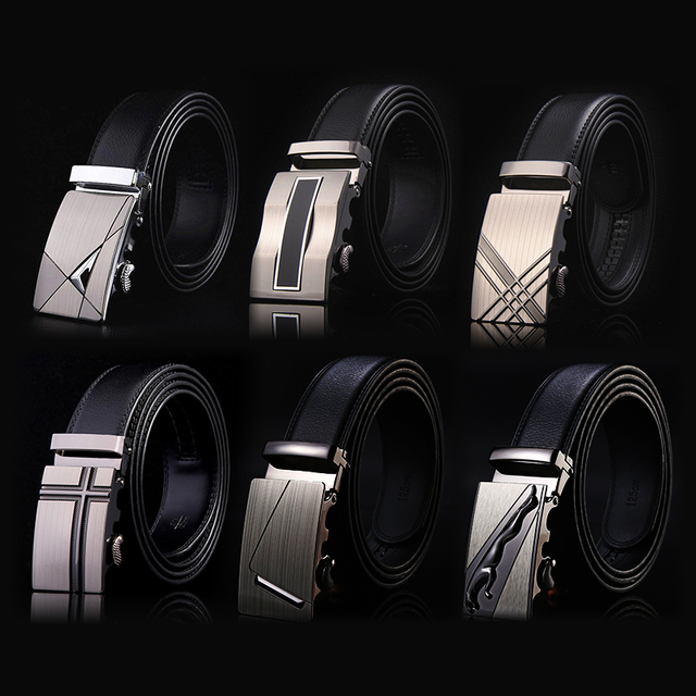 2020 Famous Brand Belt Men Top Quality Genuine Luxury Leather Belts for Men Strap Male Metal Automatic Buckle men belts 1