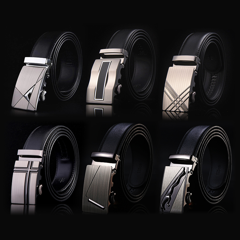 2020 Famous Brand Belt Men Top Quality Genuine Luxury Leather Belts for Men Strap Male Metal Automatic Buckle men belts