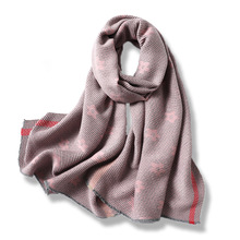 2019 New Womens Winter Scarf Floral Cashmere Scarves Shawl Soft Wool Pashmina for Ladies Warm Female Poncho Stoles Hijabs