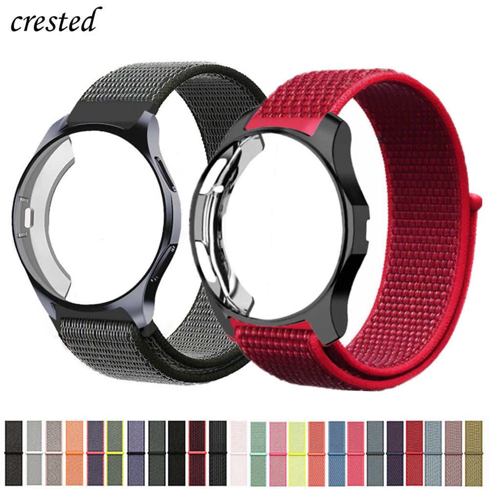 Case+strap For Samsung Galaxy Watch 46mm/42mm Band Gear S3 Frontier Nylon Sport Loop Bracelet Watchband Accessories 42/46 Mm S 3