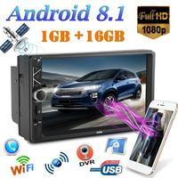 2 DIN 7 inch Auto Car Radio 1G+16G Touch Screen Android 8.1 Car Stereo MP5 Player GPS Mirror Link WiFi Bluetooth Autoradio