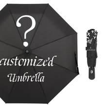Personalized Automatic Umbrella Rain Women Three Folding Umbrellas Windproof Custom Design Umbrella Female Waterproof Parasol