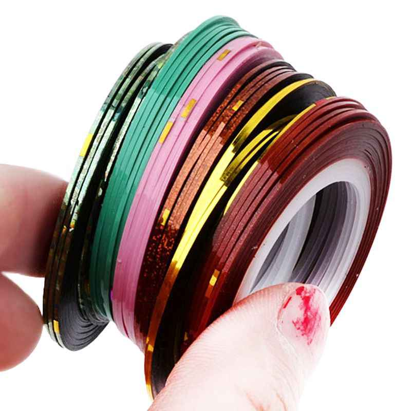 1 Roll Nail Art 20M Adhesive Striping Tape Line Decals Sticker Decoration