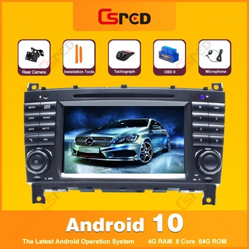 Csred 7 Auto Radio Android 10 For Mercedes Benz C Class W203 CLK W209 Radio GPS Navigation Multimedia Player Stereo Head Unit image