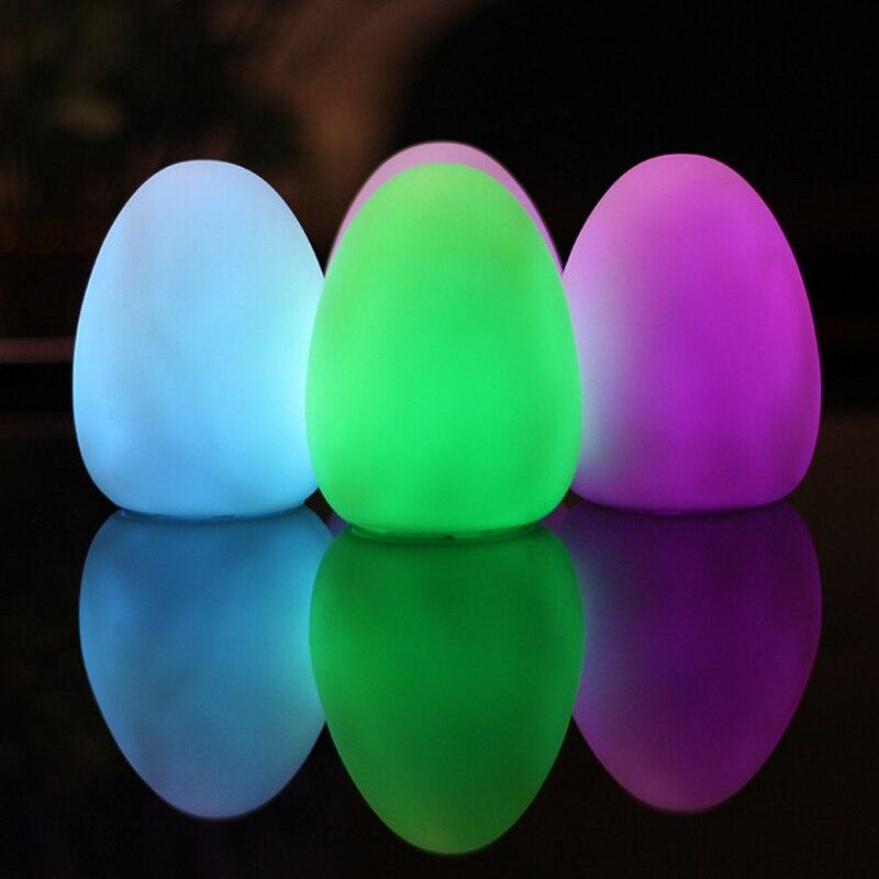 Egg Night Light 7 Colors Visual Stim Autism Special Needs Multi Sensory Room Bedroom Party Indoor Outdoor Lightning Decor