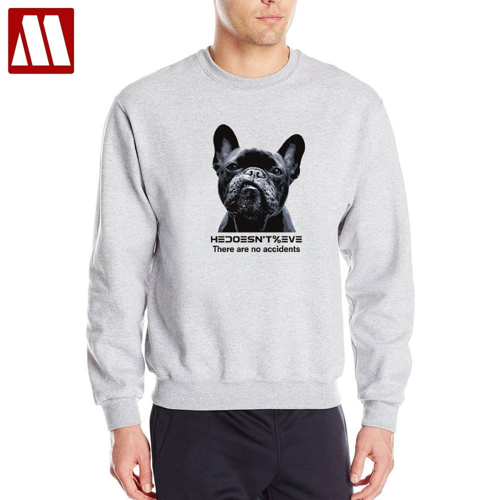 Bullterrier Head Embroidery Mens Hoodies Autumn Winter O-Neck Top Long Sleeve Sweatshirt