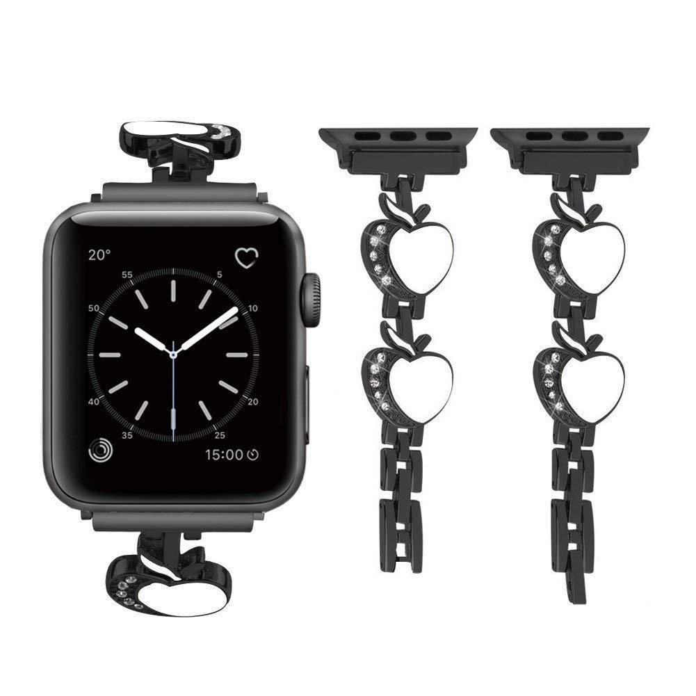 Suitable For Applewatch4 Heart Shape Chain Apple Watch 1/2/3 Metal Watch Strap Diamond Set Wrist Strap Currently Available