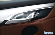 цена на Lapetus Inner Door Doorknob Handle Bowl Decoration Cover Trim 4 Pcs Fit For BMW X5 F15 2014 - 2017 / X6 F16 2015 - 2018 ABS Matt