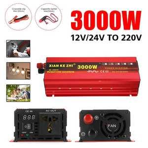 Inverter 12V/24V 110/220V 1600/2200/3000W Voltage transformer Pure Sine Wave Solar Power Inverter DC12V to AC 110/220V Converter
