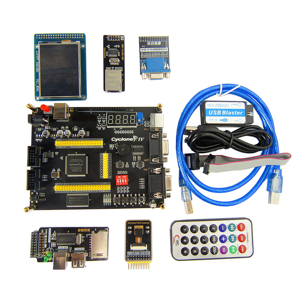 Altera Cyclone IV EP4CE6 FPGA Development Board NIOSII EP4CE PCB and USB Blaster Jtag AS Programmer-in Integrated Circuits from Electronic Components & Supplies