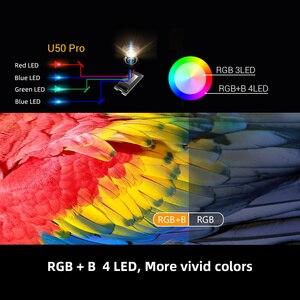 Image 4 - Byintek U50フルhd 1080pミニ2 18k 3D 4 18k androidスマート無線lanポータブルレーザーホームムービーled dlpプロジェクタービーマーproyector