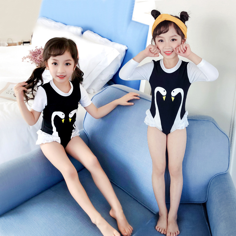Youyou KID'S Swimwear GIRL'S One-piece Swimming Suit Big Boy South Korea Cute Baby GIRL'S Little Princess Tour Bathing Suit