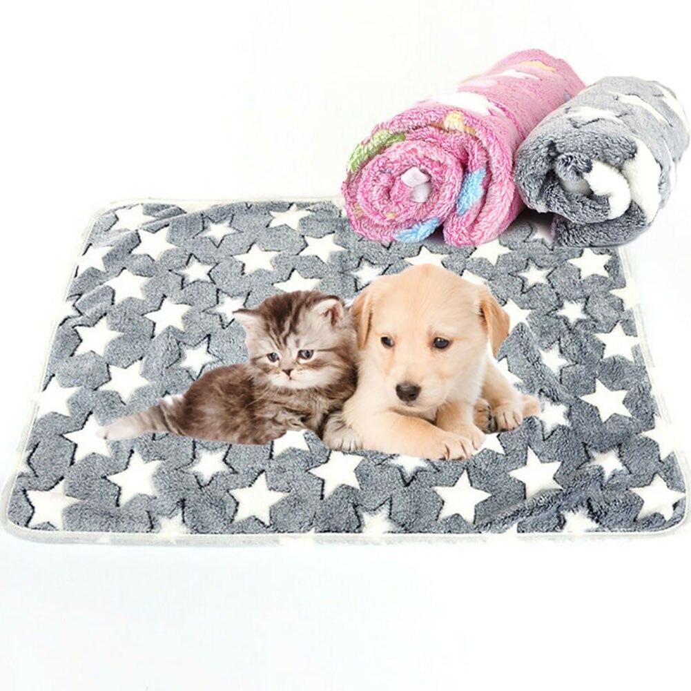 Invierno C/álido Estera Para Dormir Coj/ín De Cama Antideslizante Suministro Para Mascotas Amarillo S H87yC4ra Manta De Felpa Suave Lavable Para Perro Gato