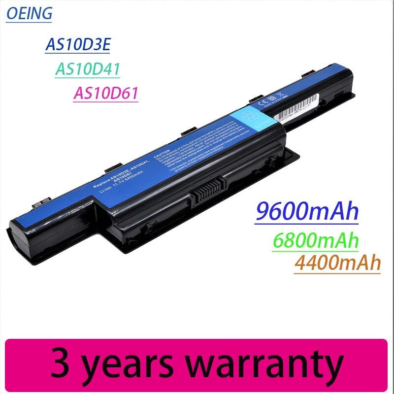 New Bateria Do Portátil Para Acer Aspire V3 5741 5742 5750 5551G 5560G 5741G 5750G AS10D31 AS10D51 AS10D61 AS10D71 AS10D75 AS10D81|Baterias p/ laptop|   -