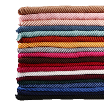 Large Size TR cotton scarf Pleated Crinkle Women's Hijab Muslim Head Wrap wrinkle Shawl scarves Plain Colours - discount item  40% OFF Scarves & Wraps