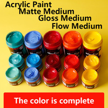 Fluorescent metal color Acrylic Paints Matte Gloss Flow Art Craft Painting Drawing Pigment Waterproof Color Oil Paint 100ml