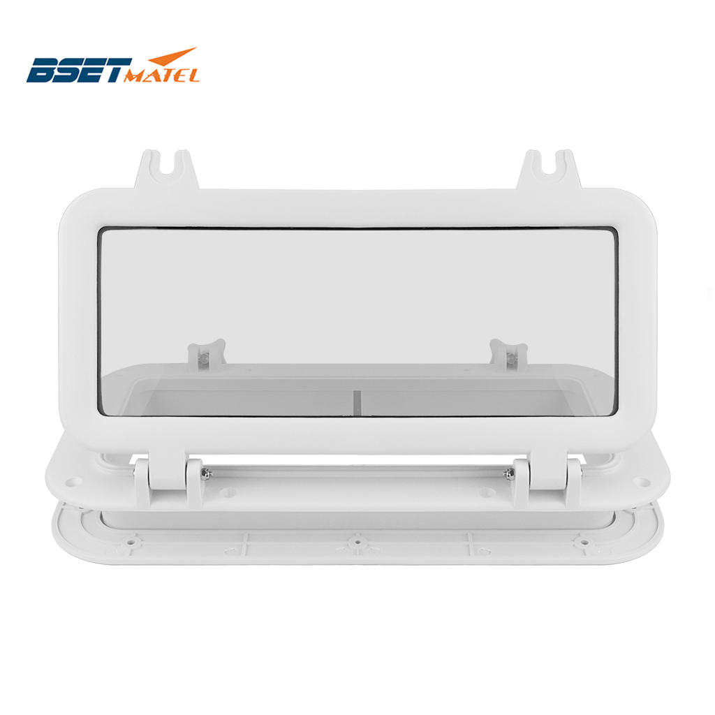 Marine Boat Yacht RV Porthole ABS Plastic Rectangular Hatches Port Lights Replacement Waterproof Windows Port Hole Portlight