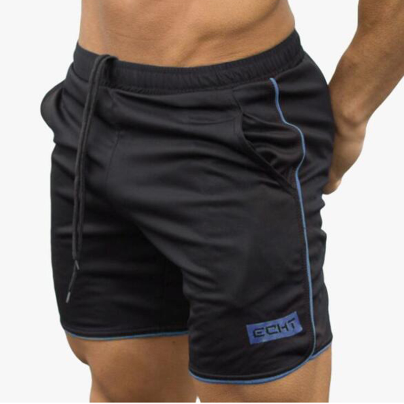 Summer Fashion Polyester Quick-Drying Thin Mesh Sports Shorts Men's Brand Sports Gyms Fitness Training Jogging Breathable Shorts