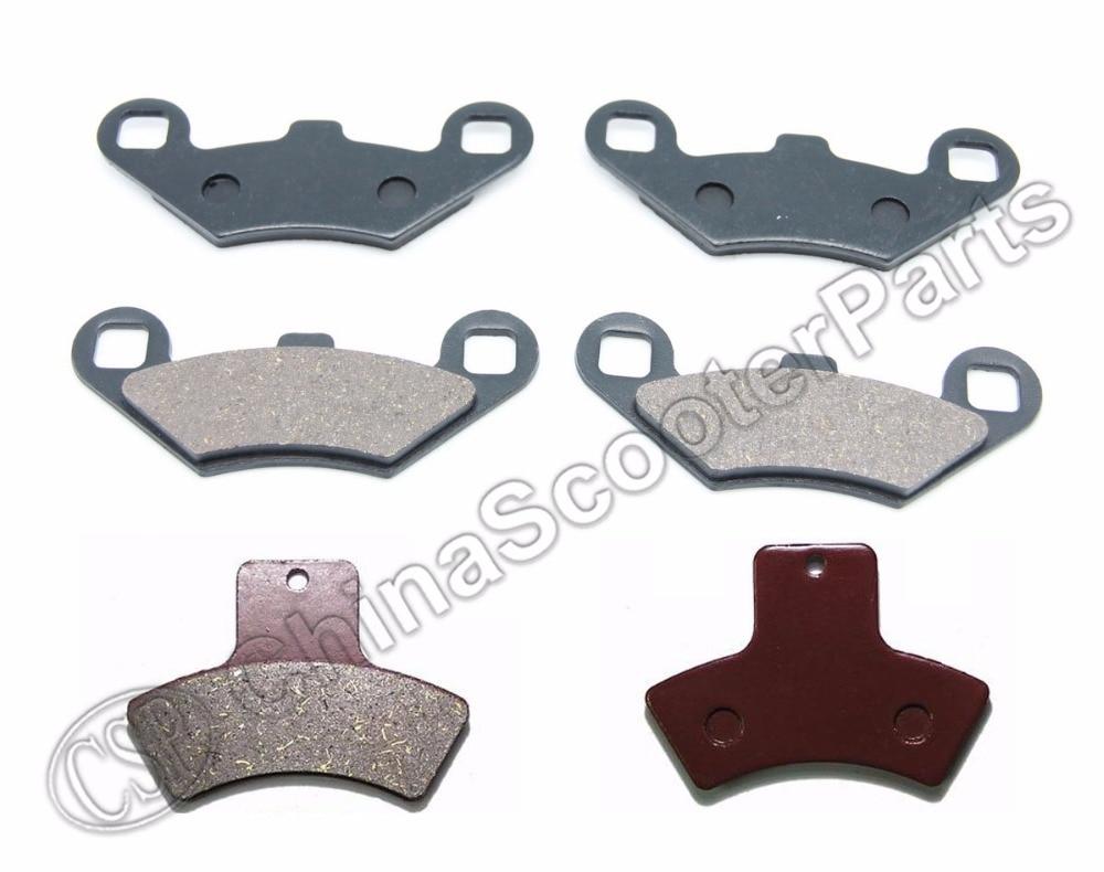 3 Pairs Semi-metallic Non-asbestos Front Rear Brake Pads For Polaris Sportsman 500 4x4 HO 1998 1999 2000 2001 2002