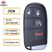 KEYECU OEM Smart Prox Remote Key With 4 Button 433MHz   FOB for Jeep Renegade Compass 2015 2016 2017 2018 2019 2020 M3N 40821302