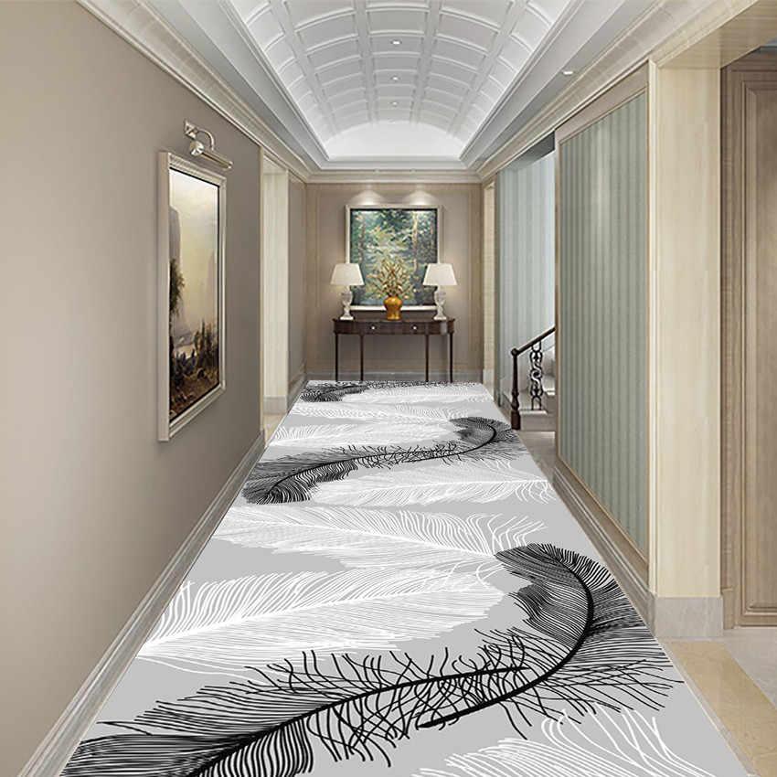 tapis d escalier 3d avec plumes pour couloir europeen hotel pour sol long entree de maison couloir allee