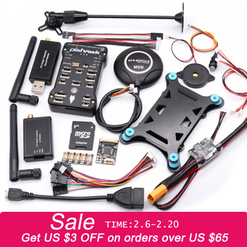 apm 2 8 flight controler with gps parts and 5 8g 250mw tx 3dr radio telemetry kit for diy f15441 f Pixhawk 2.4.8 PX4 PIX 32 Bit Flight Controller+M8N GPS+ 433/915Mhz 100/500mw Radio Telemetry+Safety Switch+Buzzer+rgb+I2C+ 4G SD