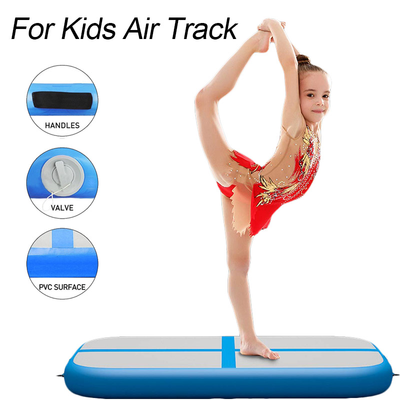 100x60x10cm Air Track Inflatable <font><b>Gymnastics</b></font> <font><b>Mat</b></font> Tumbling Gym Yoga Floor Cheerleading Training Mattress for <font><b>Kids</b></font> Home/Park/Beach image