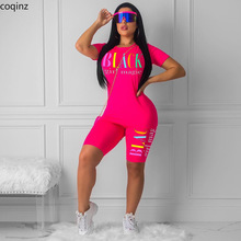 Plus Size Summer 2020 Two Piece Set Crop Top And Shorts 2 Piece Set Women Club Outfits Matching Sets Ensemble Femme 5249Womens Sets