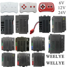 WEELYE-coche eléctrico RX18 para niños, control remoto por Bluetooth, 2,4G, rideable, receptor de coche de juguete con función de arranque suave